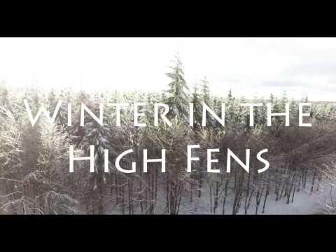 Snow in the High Fens; Belgium - Phantom 4 in 4K