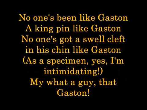Gaston  Lyrics
