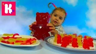 Желейные мишки червяки и рыбки делаем на Гамми Мэйкер Gummy Bears worms and fish on maker