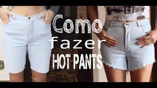 DIY | Calça masculina em shorts HOT PANTS | PARTE 1 de 2