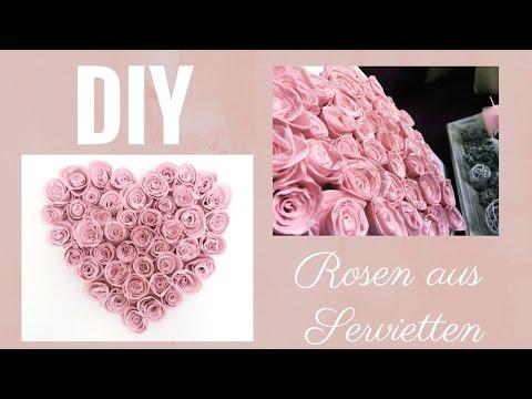 DIY Rosen aus Servietten easy & günstig...