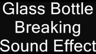Glass Bottle Breaking Sound Effect Beer Wine Window