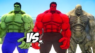 HULK VS RED HULK & ABOMINATION - EPIC SUPERHEROES BATTLE   DEATH FIGHT