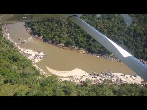 Flying low over Stiegler's Gorge! Incredible! The Selous with Coastal Aviation