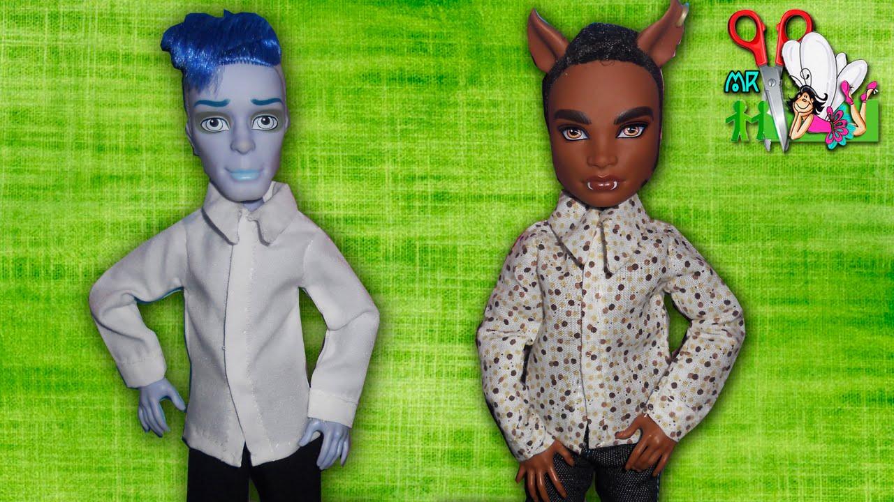 Как сшить РУБАШКУ для кукол мальчиков Monster High, Barbie (Ken) / Muza Rukodeliya