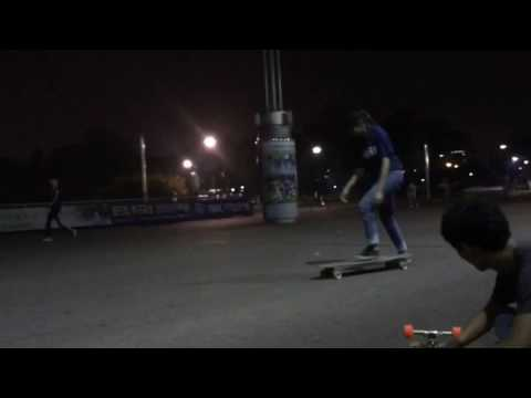 2016.09.23 [no-comply to bs pivot & no-comply bigspin] - Longboard diary