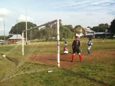 vs. Leichhardt Tigers (reserves) - Tigers go one nil up