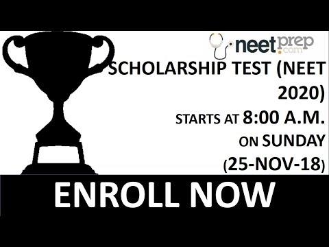 REMINDER - SCHOLARSHIP TEST ON SUNDAY (25-NOV-2018) FOR NEET 2020 STUDENTS