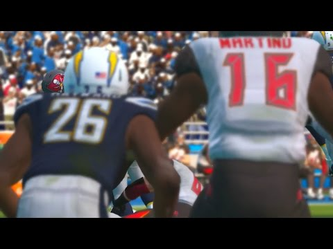 Madden NFL 17 Week 12 Tampa Bay Buccaneers vs San Diego Chargers