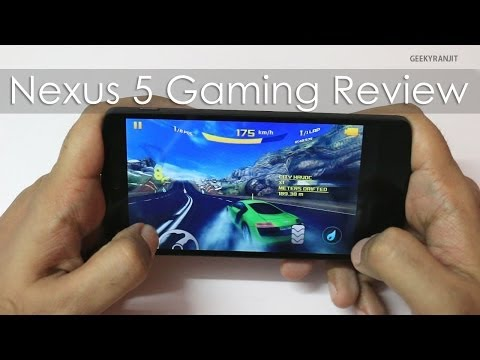 Google NEXUS 5 Gaming Review with HD Games
