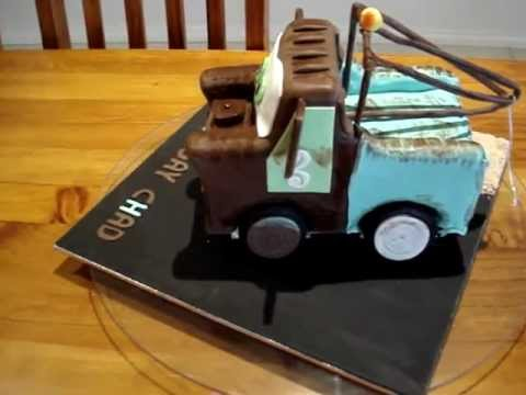 How To Make A Tow Truck Cake