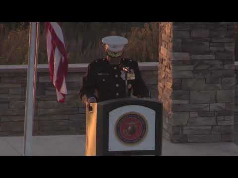 Marine Corps Base Camp Pendleton's 75th Anniversary Evening Colors Ceremony