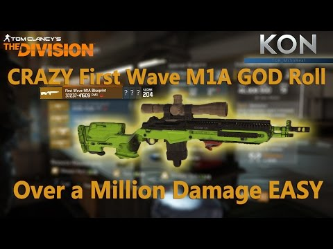 The Division - CRAZY First Wave M1A GOD Roll Over a Million Damage EASY
