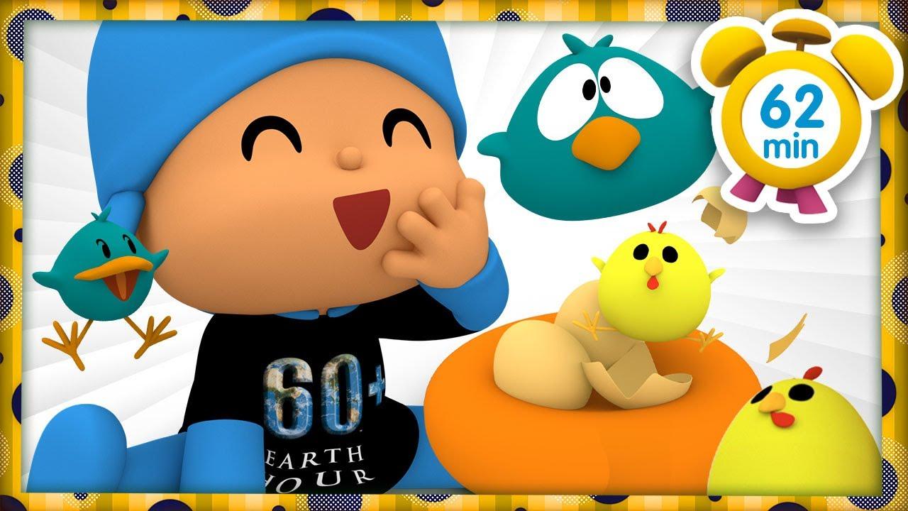 🐔  POCOYO FRANÇAIS - Mes Amis les Oiseaux 🌐 EARTH HOUR [62 min] | DESSIN ANIMÉ pour enfants