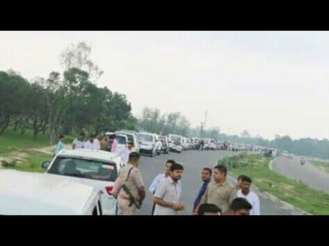 MLA Rajesh Kumar Mishra pappu bhartoul ji ka vishal kafila  जय परशुराम जी