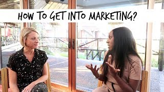 HOW TO GET INTO MARKETING   A CAREER Q&A WITH THE CHARTERED INSTITUTE OF MARKETING   Ad
