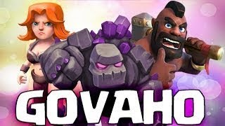 Th9 GoVaHo (Golems+Valkyrie+Hogs) Attack strategy in clash of clans