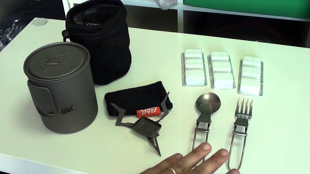 Pot de titanio 750 ml Esbit PT750-TI para cocinar en viajes. - YouTube 1b202bfb37fa8