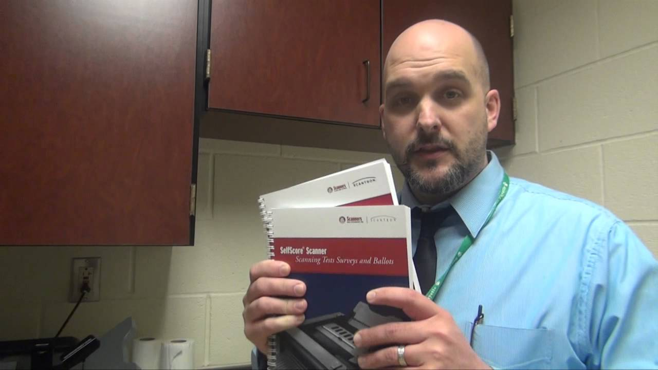 How to Use the New Scantron Machine - YouTube