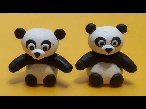 Лепка, Панда из пластилина