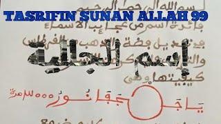 TASRIFIN SUNAN ALLAH 99