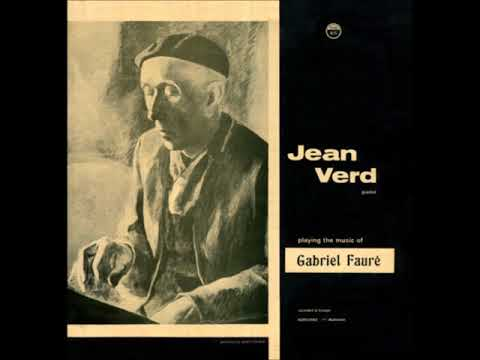 Jean Verd Plays Fauré - Barcarolle No. 3 In G Flat Major Opus 42