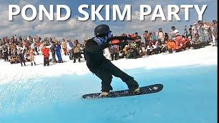 Epic Pond Skim Snowboard Party on Whistler Mountain