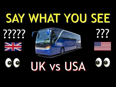 AMERICAN vs BRITISH English **50 DIFFERENCES**