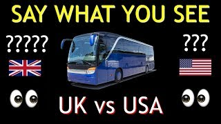 AMERICAN vs BRITISH English **50 DIFFERENCES** Video