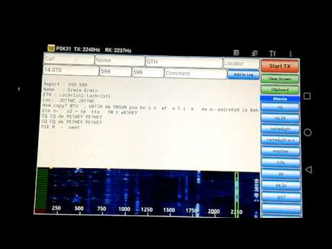 Droidpsk31 on Tablet and Kenwood TH-F7