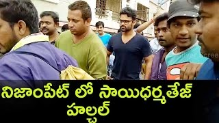 vuclip Supreme Hero Sai Dharam Tej Comes To The Rescue Of Nizampet People || Hyderabad Floods