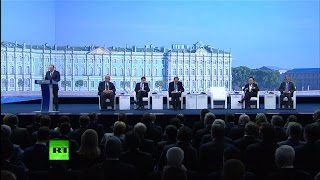 Выступление Владимира Путина на пленарном заседании ПМЭФ