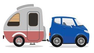 3d cartoon doctor mcwheelie and trailer for car kids animation and educational cartoon