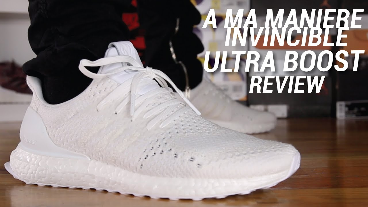 541c5778de7b9 A MA MANIERE X INVINCIBLE ADIDAS ULTRA BOOST REVIEW - YouTube