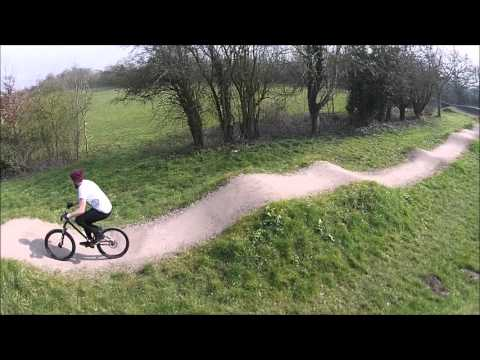 Testing the Drone at Bishop's Tachbrook Pumptrack 120316
