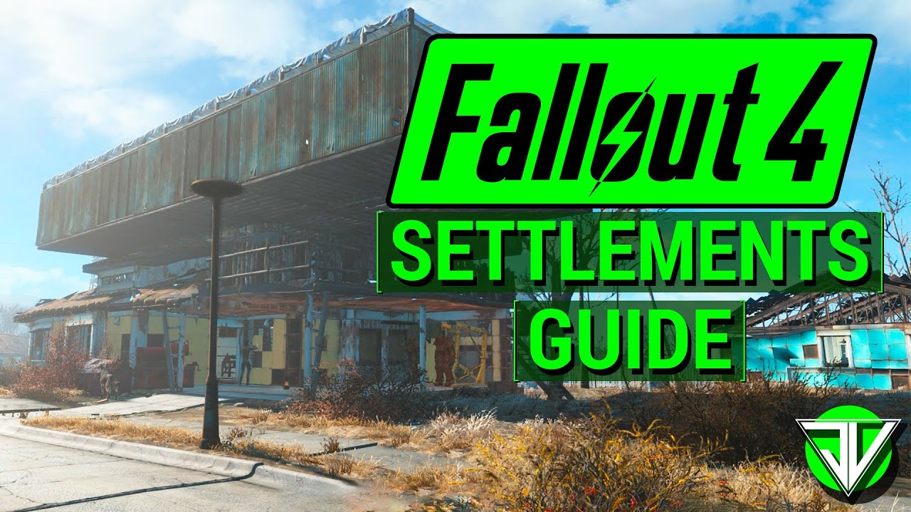 FALLOUT 4: Workshop SETTLEMENTS Guide! (The Basics of Resource Management in Fallout 4!)