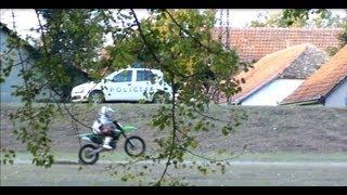 Playing With Cops On Dirtbike - Kawasaki Kx250f
