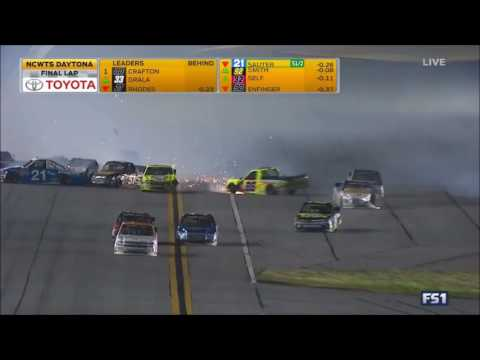 2017 Nascar Trucks At Daytona--Matt Crafton Blowover |Kaz Grala wins|
