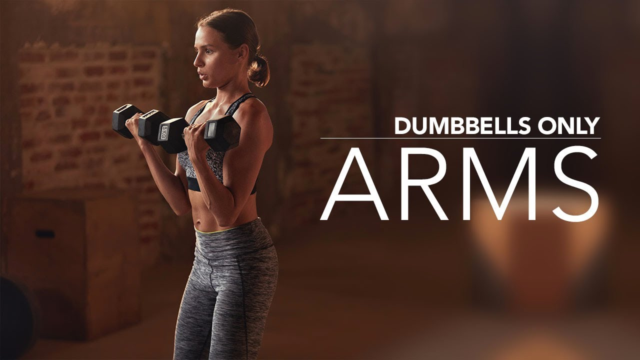 10 Minute Arm Workout (At Home Dumbbells Only!)
