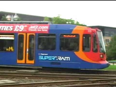 Sheffield Stagecoach SuperTram 102 Pushing the Broken Down Tram ...