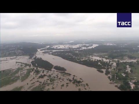 видео: Борьба с паводком в Приморье