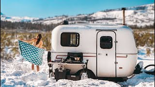 can-we-get-out-post-blizzard-shower-solar-upgrade-off-grid-13ft-scamp-trailer