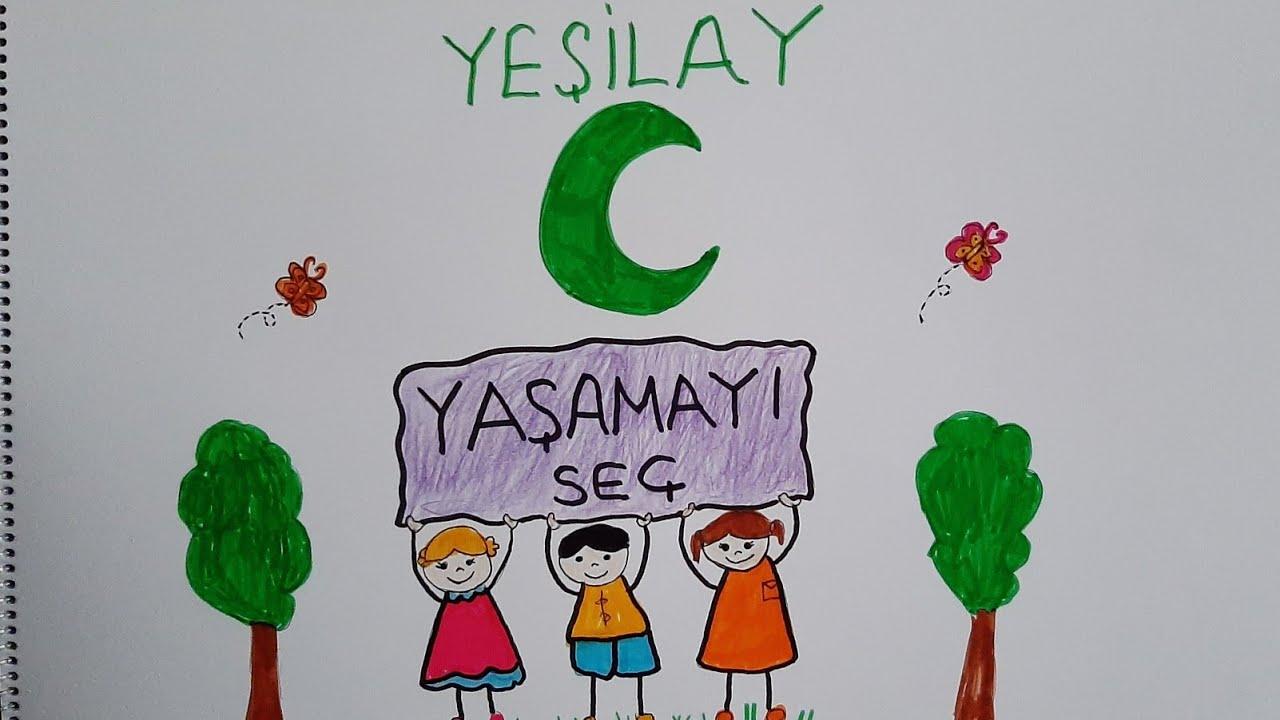Yesilay Haftasi Resim Cizimi 1 7 Mart Youtube
