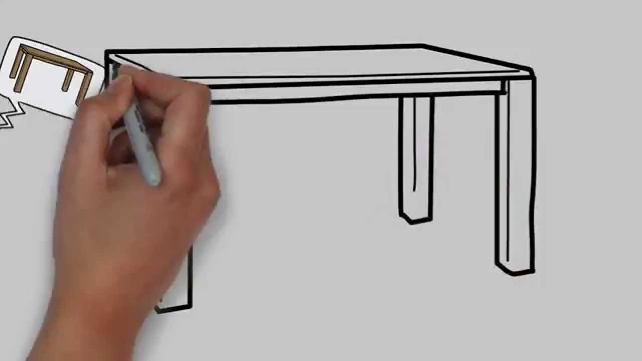 How To Draw A Table Step By Step For Kids Easy Drawing