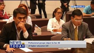 Professional groups object to Sec 48 of higher education bill