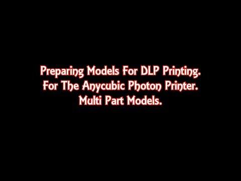 Multipart models for resin dlp printing.