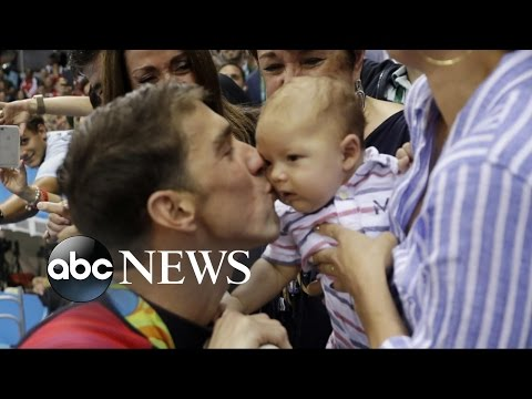 Michael Phelps Shares Final Olympic Games With Son