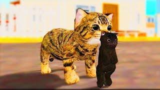 Мультики для детей. Мультик про КОТЁНКА. Про животных для детей Игра Симулятор маленького КОТИКА #17