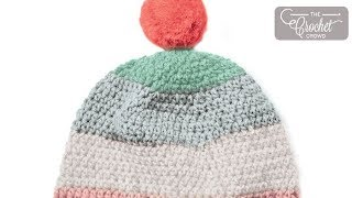 Crochet Caron Cupcakes Beanie: 2 - 10 Years Old