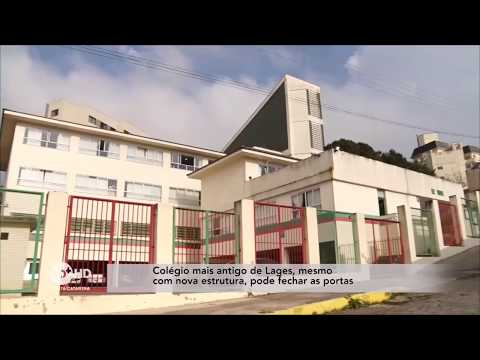 Colégio mais antigo de Lages pode fechar as portas, mesmo com nova estrutura